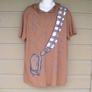 STAR WARS Tshirt, 2XL, Chewbacca Mask Hoodie, SS